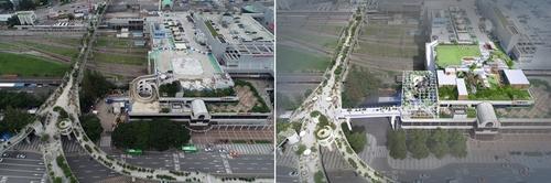 옛 서울역사∼서울로7017 연결 33m 공중보행길 10월 열린다