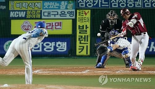 Nexen shortstop Kang Jung-ho stays hot in potential audition for MLB clubs - 2
