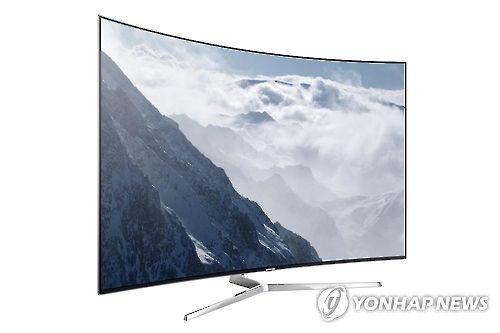 Samsung's super-ultra high-definition TV with quantum dot technology (Photo courtesy of Samsung Electronics) (Yonhap)