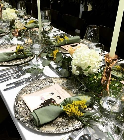 The photo, taken from Noh Hee-young's Instagram on Feb. 4, 2017, shows table decorations at the wedding reception of Rain and Kim Tae-hee on Jan. 19, 2017. (Yonhap)