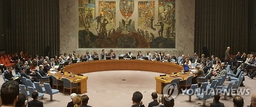 The U.N. Security Council adopts Resolution 2321 against North Korea for its fifth nuclear test at a meeting in New York on Nov. 30, 2016. (Yonhap)