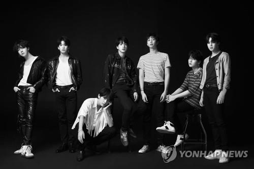 This photo, provided by Big Hit Entertainment, shows the seven BTS members. (Yonhap)
