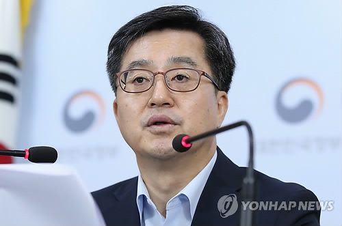 Finance Minister Kim Dong-yeon speaks during a press conference on a tax code revision in Seoul on July 6, 2018. (Yonhap)