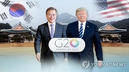 (LEAD) Moon, Trump to meet at G20 summit: White House