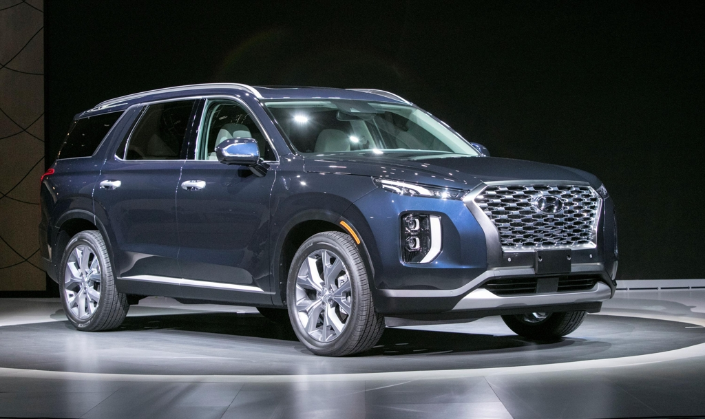 Hyundai Motor's Palisade flagship SUV is being displayed at LA Auto Show from Nov. 28 to Dec. 9. (Yonhap)