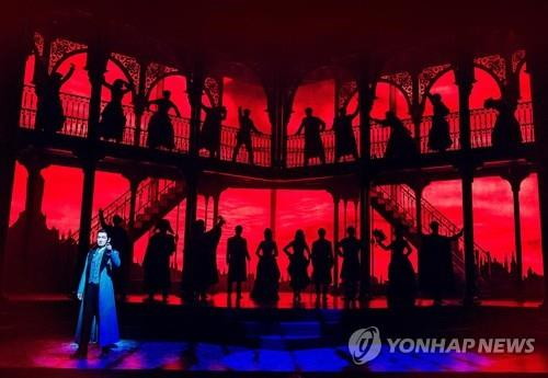 This photo provided by OD Company shows a performance of the musical Jekyll & Hyde. (Yonhap)