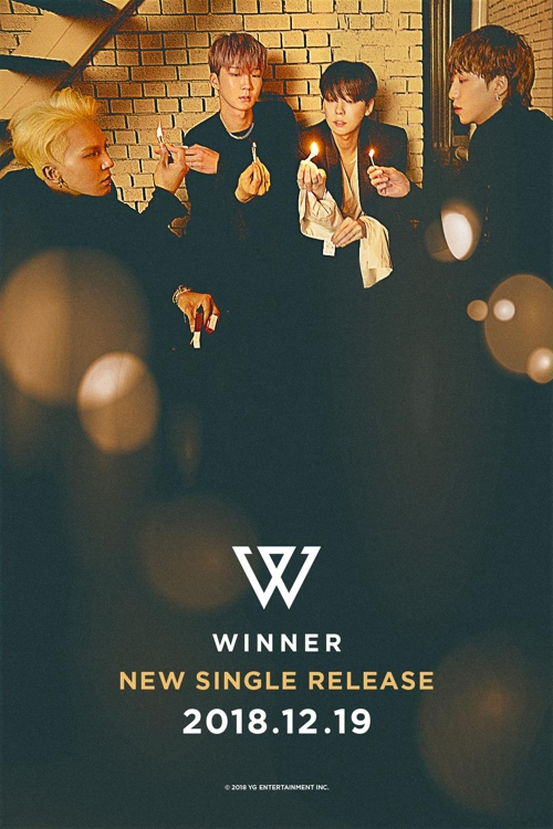 This teaser image for WINNER's ditigal single, set for release on Dec. 19, 2018, was provided by YG Entertainment. (Yonhap)