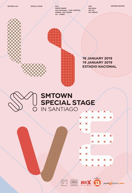 "This promotional image for ""SMTOWN SPECIAL STAGE in Santiago,"" set for Jan. 18-19, was provided by SM Entertainment. (Yonhap)"