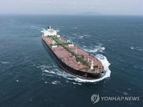 This photo shows a very large crude carrier (VLCC) built by Daewoo Shipbuilding & Marine Engineering Co. (Yonhap)