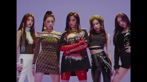 This image of JYP Entertainment's new girl band ITZY is provided by JYP. (Yonhap)