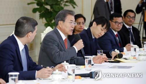 Moon cites success in peace-building efforts