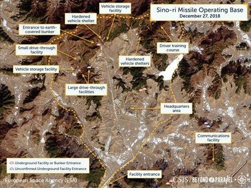 This file photo provided by the Center for Strategic and International Studies, a U.S.-based think tank, shows North Korea's Sino-ri missile operating base. (Yonhap)