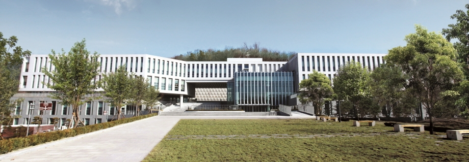 This photo provided by Solvay Korea shows Solvay's Research & Innovation (R&I) center at Ewha Womans University in Seoul, also the home of the company's Special Chem Global Business Unit headquarters. (Yonhap)