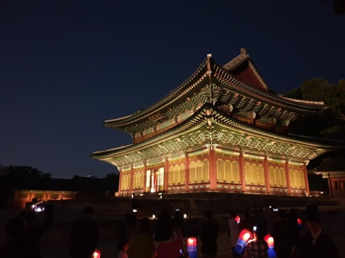 Moonlit nocturnal stroll at UNESCO-recognized royal palace in Seoul
