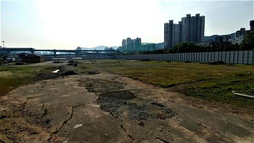 This photo provided by Green Korea United shows the former site of the USFK's Defense Reutilization and Marketing Office in Busan. (Yonhap)
