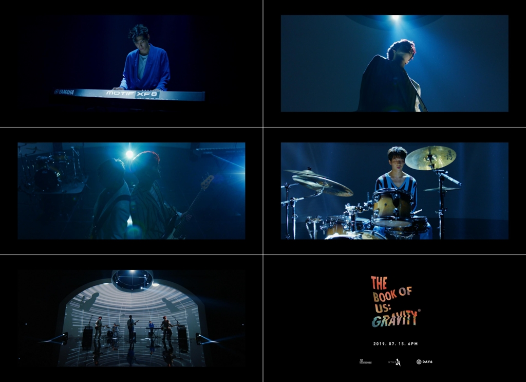 "These teaser images for DAY6's new album ""The Book of Us: Gravity"" are provided by JYP Entertainment. (PHOTO NOT FOR SALE) (Yonhap)"