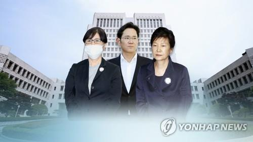 Top court to rule on ex-leader Park, Samsung heir Lee on Aug. 29