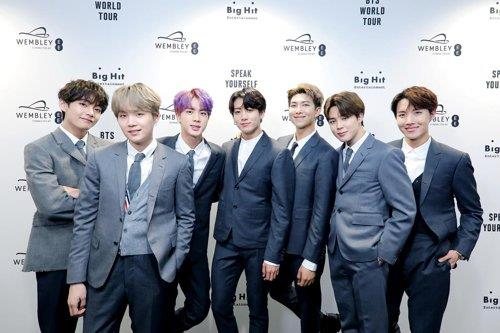 BTS is shown in this photo provided by Big Hit Entertainment. (PHOTO NOT FOR SALE) (Yonhap)