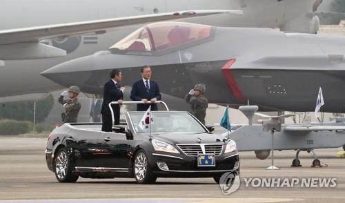 (LEAD) S. Korea's F-35As make official debut on Armed Forces Day