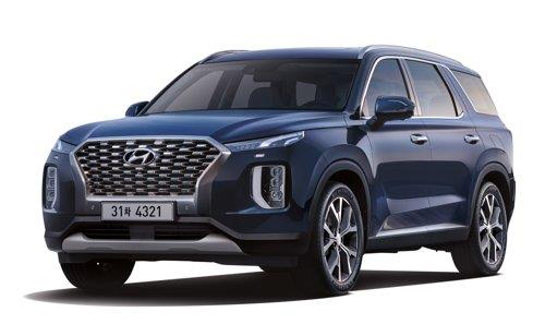 This photo provided by Hyundai Motor shows the company's Palisade SUV. (PHOTO NOT FOR SALE) (Yonhap)