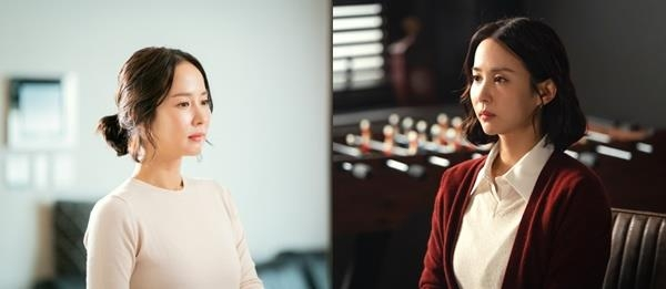 "This combined image provided by KBS shows scenes from ""Woman of 9.9 Billion."" (PHOTO NOT FOR SALE) (Yonhap)"