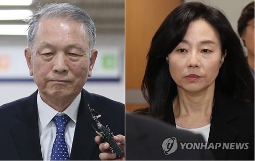 File photos of Kim Ki-choon (L), former chief of staff, and Cho Yoon-sun, former culture minister, who served as key aides to disgraced President Park Geun-hye (Yonhap)