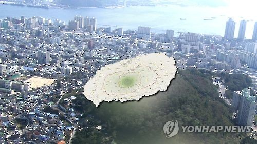 This file image from Yonhap News TV shows a map of Jeju Island and the city of Jeju. (Yonhap)