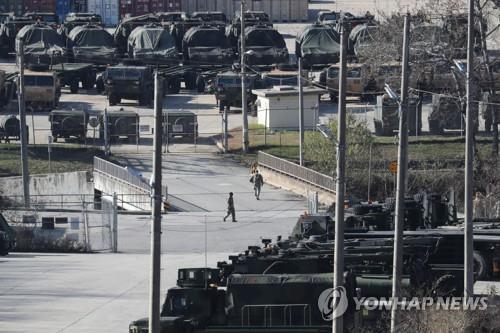 This photo taken on Nov. 20, 2019, shows U.S. Forces Korea's Camp Casey located in Dongducheon, Gyeonggi Province. (Yonhap)
