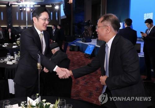 (LEAD) Samsung, Hyundai Motor heirs discuss EV biz cooperation