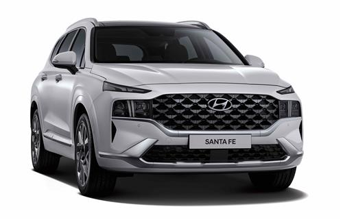 This file photo provided by Hyundai shows the upgraded Santa Fe SUV. (PHOTO NOT FOR SALE)(Yonhap)