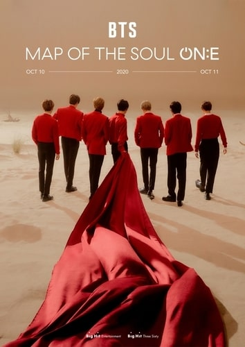 "This image provided by Big Hit Entertainment shows a promotional image for ""BTS Map Of The Soul: ON:E,"" a BTS concert scheduled for Oct. 10-11, 2020. The concert was planned to held both in-person and streamed live but will be held virtually only. (PHOTO NOT FOR SALE) (Yonhap)"