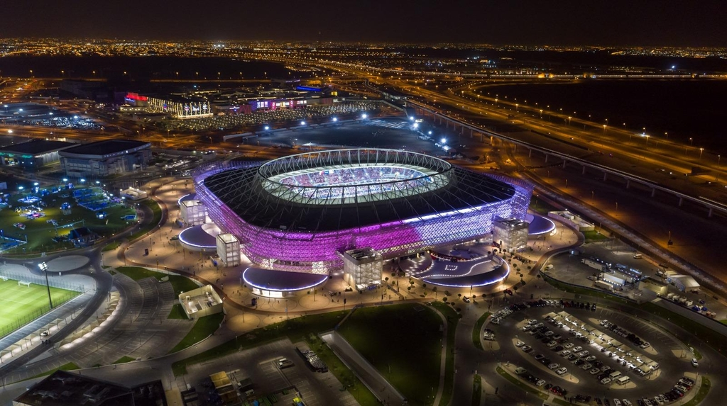 This photo provided by the local organizing committee of the FIFA Club World Cup in Qatar on Jan. 28, 2021, shows Ahmad Bin Ali Stadium in Al Rayyan, Qatar, one of two venues for the tournament. (PHOTO NOT FOR SALE) (Yonhap)