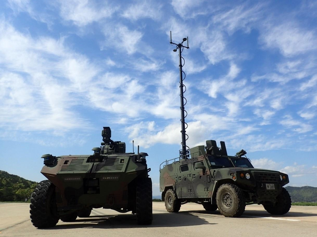 This photo provided by the Defense Acquisition Administration (DAPA) on April 22, 2021, shows unmanned surveillance vehicles under development that will deployed by around 2027. (PHOTO NOT FOR SALE) (Yonhap)