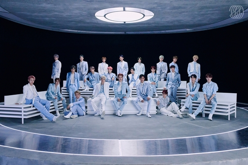 This photo, provided by SM Entertainment, shows members of the agency's K-pop boy band brand NCT. (PHOTO NOT FOR SALE) (Yonhap)