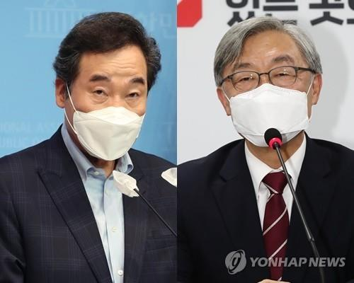 This composite file photo shows former Prime Minister Lee Nak-yon (L) and former chairman of the Board of Audit and Inspection Choe Jae-hyeong. (Yonhap)