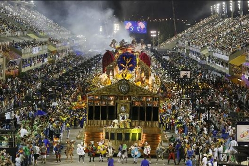 리우데자네이루 삼보드로무에서 펼쳐지는 카니발 축제 [국영 뉴스통신 아젠시아 브라질]