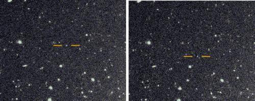 스바루 망원경을 통해 1시간 간격으로 포착한 토성의 달