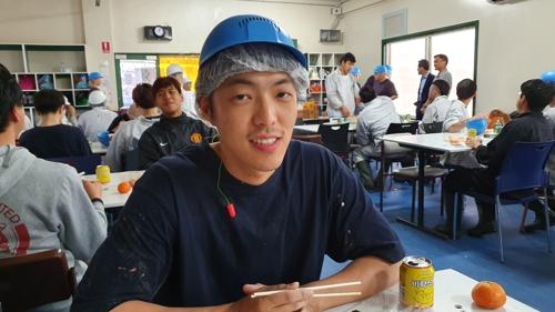 호주 NSW주 골번 도축장에서 일하는 한국 워홀러 장현식(29) 씨
