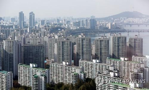 서울 시내 아파트 전경