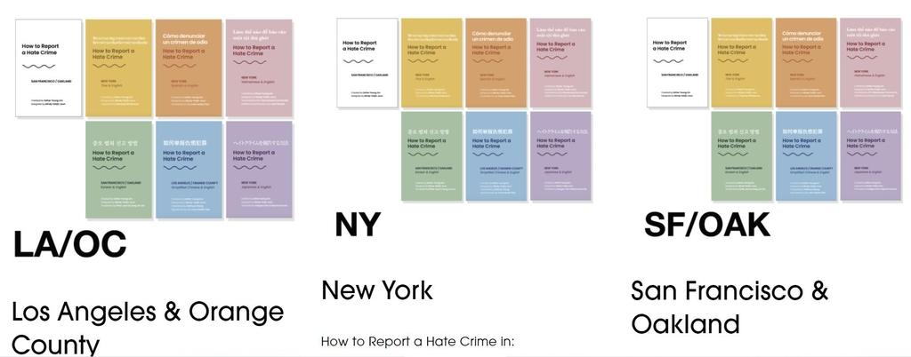 7개 언어로 번역된 증오범죄 대응법 책자