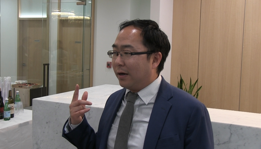 (뉴욕=연합뉴스) 연합뉴스와 인터뷰하는 앤디 김
