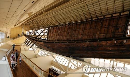 기자 평원 박물관에 전시되어 있던 '태양의 배'