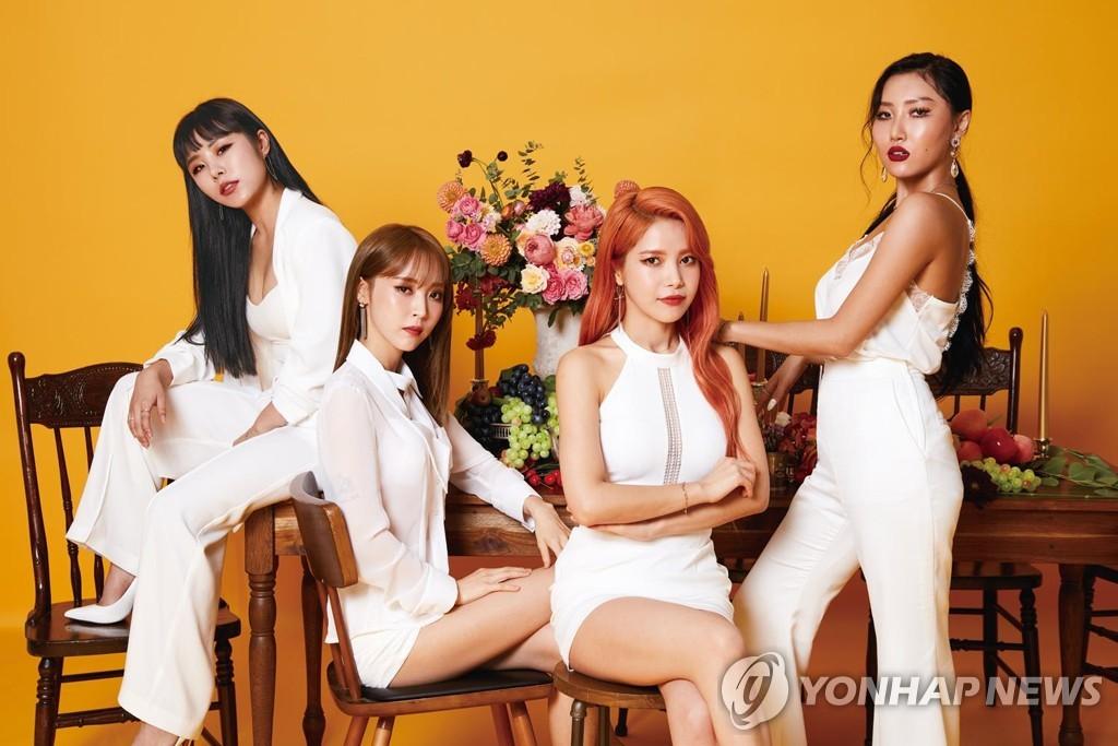 This file photo shows K-pop girl group Mamamoo. (Yonhap)