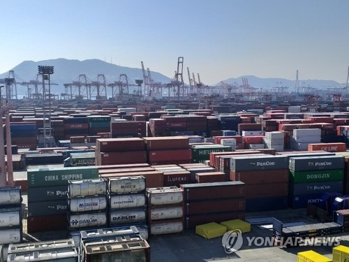 S. Korea's exports fall 3.9 pct in first 10 days of December
