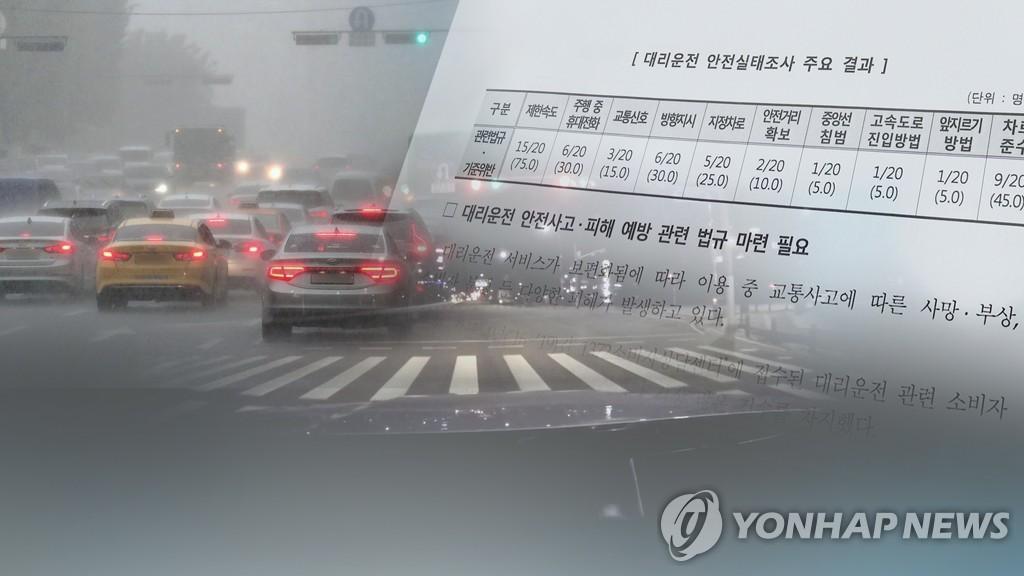 대리운전 교통법규 위반·사고 빈번(CG)