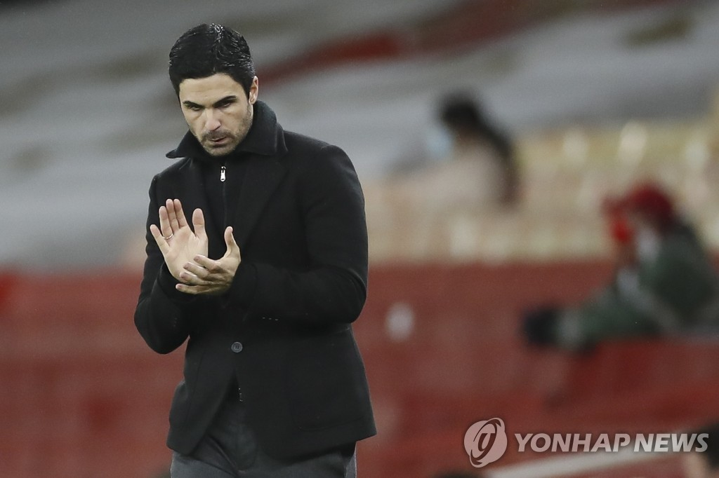 박수 아르테타 감독