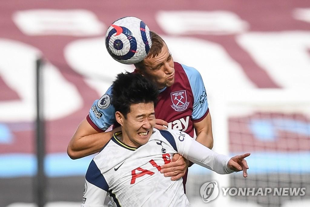 '손흥 민의 불운'토트넘, 웨스트 햄 1-2 패 … 리그 2 연패