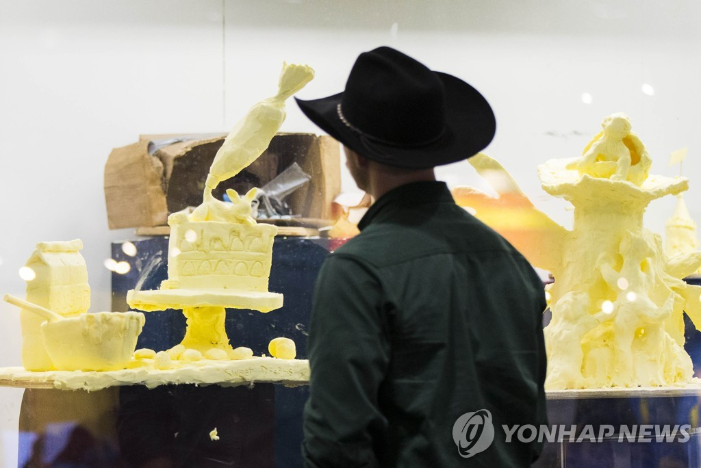 CANADA-TORONTO-ROYAL AGRICULTURAL WINTER FAIR-BUTTER SCULPTURE
