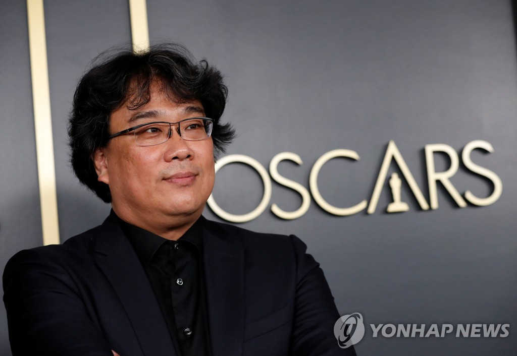 "This Reuters file photo from Jan. 27, 2020, shows Bong Joon-ho, director of the South Korean film ""Parasite,"" attending a luncheon for nominees for the 92nd Academy Awards in Los Angeles. (Yonhap)"