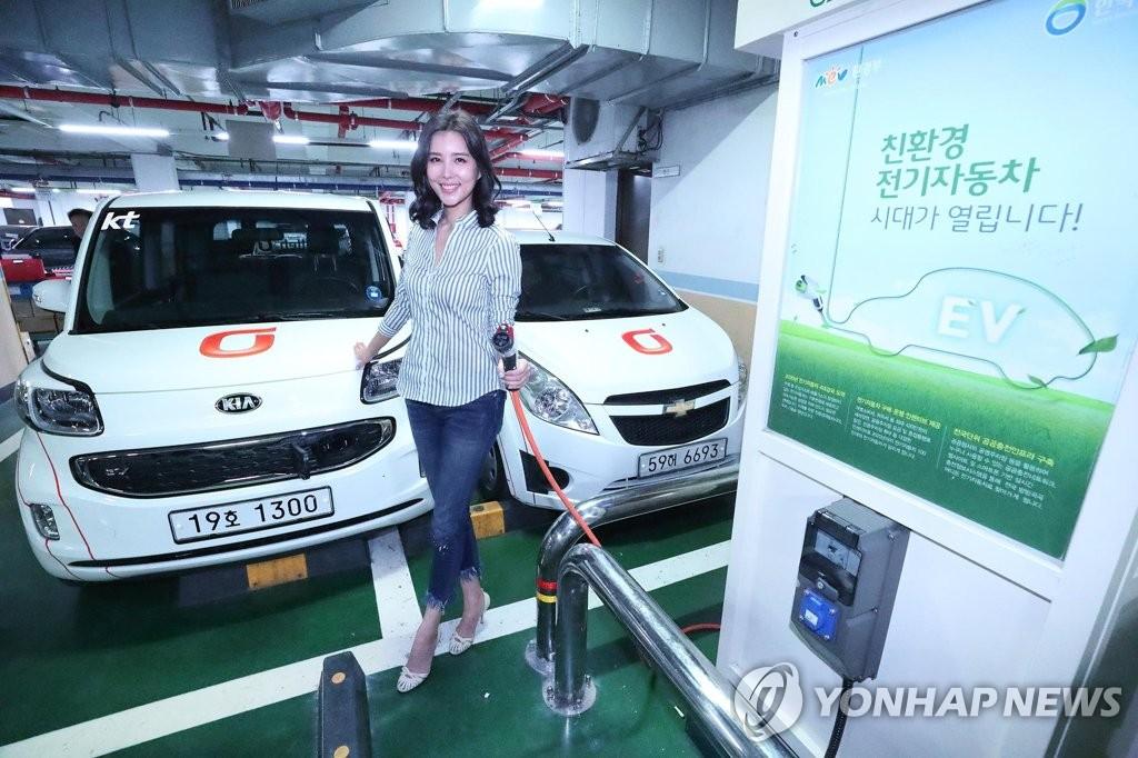 부산 아파트 주차장에 휴대용 전기차 충전시스템 구축 | 연합뉴스